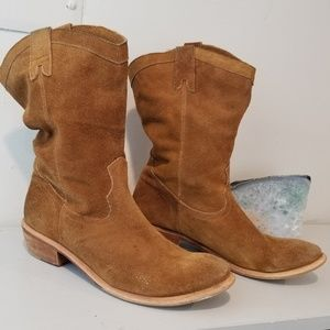 Bronx Nubuck Leather Cowgirl Boots size 10 M